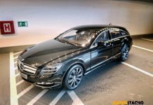 2012 Mercedes Benz CLS Shooting Brake X218 black 1:18 Norev